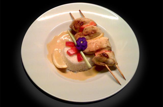 Brochettes de poulet sauce Satay - Photo par Ma boîte à diners