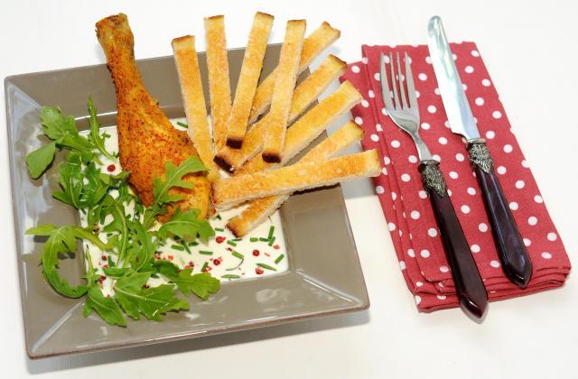Poulet-frites revisité ou 'Poulet-serviette' - Photo par isa-marie