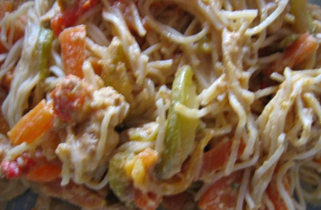 Dinde sauce satay et ses légumes - Photo par Orts