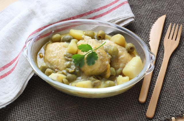 Tajine de poulet citron confit et olives vertes au Cuisine Companion - Photo par Silvia Santucci