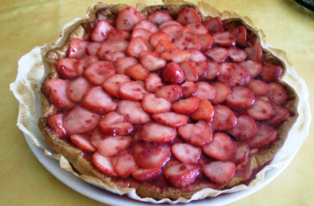 Tarte fraise rhubarbe - Photo par podvi0