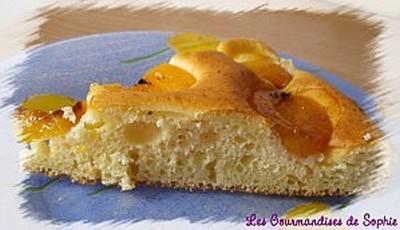 Moelleux au yaourt vanillé et ses abricots caramélisés - Photo par Sophie21