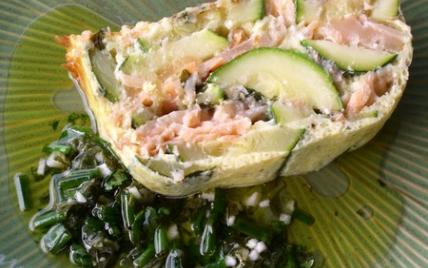 Terrine de saumon aux courgettes - Photo par monzab