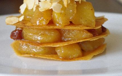 Pastilla aux pommes caramélisées au vinaigre Xéres - Photo par lbouch