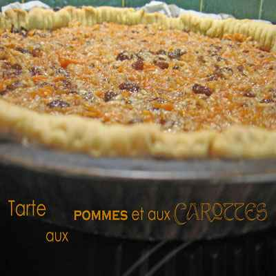 Tarte aux pommes et aux carottes - Photo par agphil