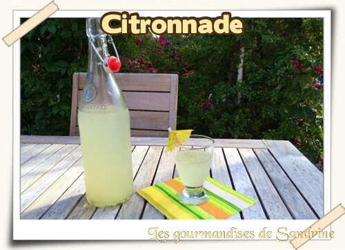 Citronnade maison - Photo par Les gourmandises de Sandrine