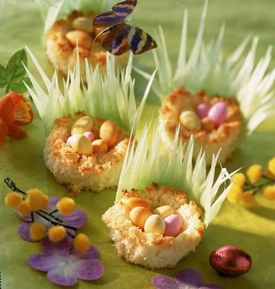 Petits nids à la noix de coco maison - Photo par Cedus Le sucre