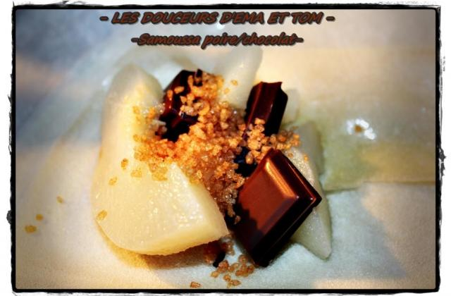 Samoussas poires chocolat - Photo par Les douceurs d'Ema et Tom