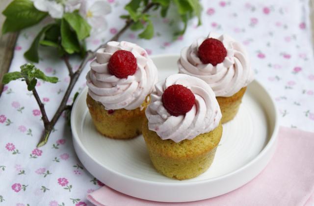 Mini cupcakes pistache et framboises - Photo par nonnapapera