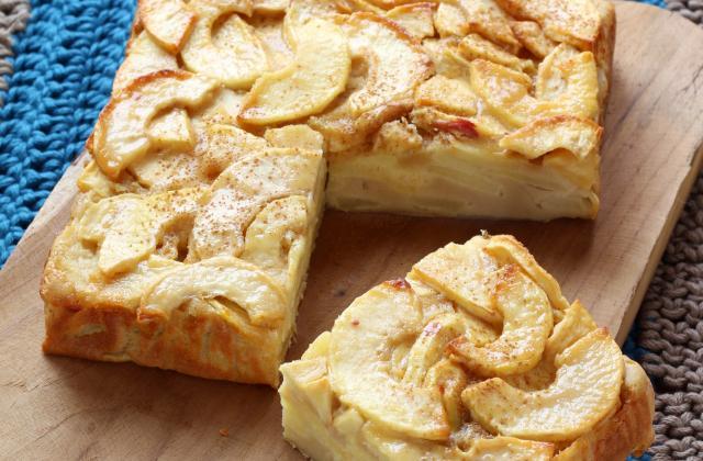 Gâteau invisible aux pommes et à la vanille - Photo par Silvia Santucci