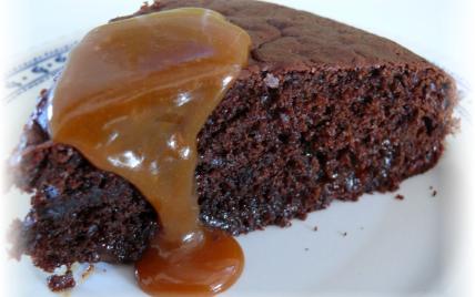 Gâteau chocolat et caramel salé - Photo par delf745