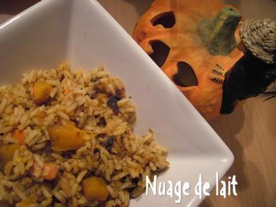 Riz aux épices et Potimarron - Photo par Nuage de Lait