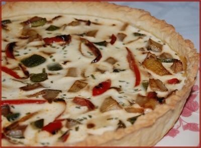Tarte aux fenouils, poivrons et courgettes - Photo par newelm