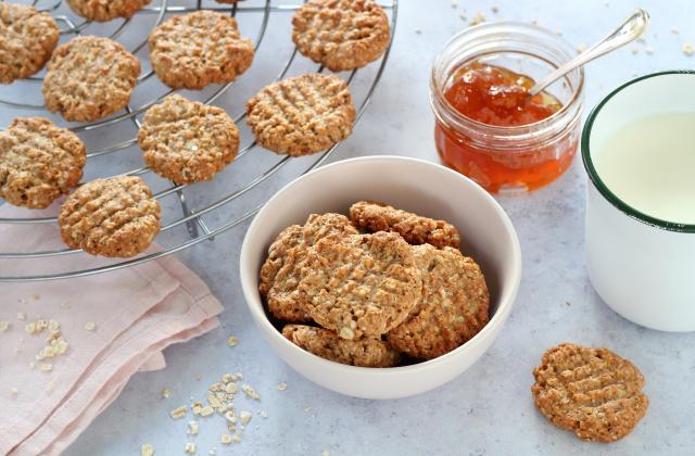 Biscuits aux flocons d'avoine, sarrasin, banane et zeste de citron - Photo par Silvia Santucci