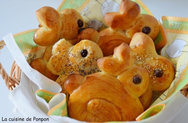 Brioche lapinou de Pâques - Photo par Ponpon