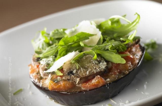 Aubergines façon pizza au parmesan et au Filante Sublime Giovanni Ferrari - Photo par Quiveutdufromage.com