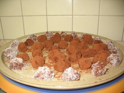 Truffes de ganache au chocolat - Photo par cathynL