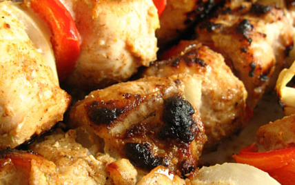 Brochettes de porc marinées au massalé - Photo par sherau