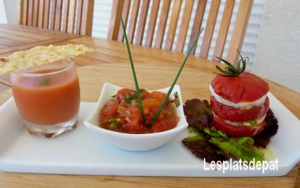 Tomate froide en variations - Photo par Lesplatsdepat