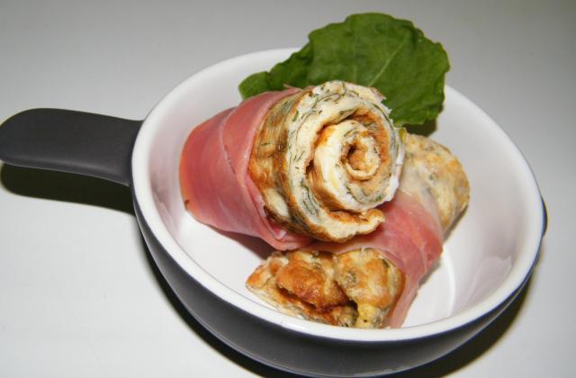 Omelette roulée à l'oseille - Photo par stephaniegr