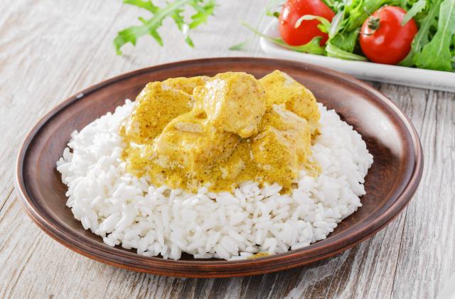 Poulet, curry et coco - Photo par 750g