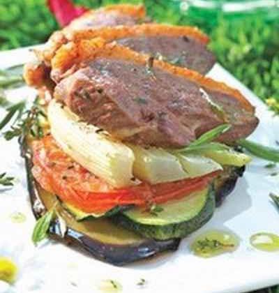 Côtelettes de canard et légumes grillés aux senteurs de Provence - Photo par 750g