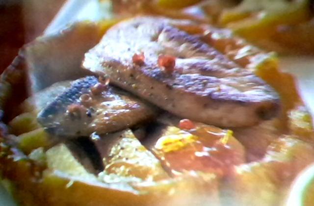 Tatins de pommes au foie gras - Photo par mathilhX8