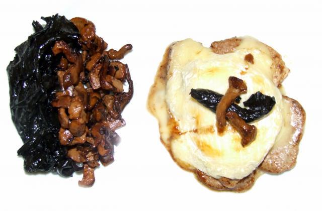 Filet mignon au St Marcellin, champignons en deux couleurs - Photo par Utilisateur 614727