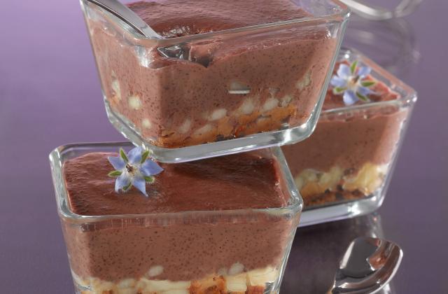 Crème douceur au Tapioca, au chocolat, spéculoos et poire - Photo par Tipiak