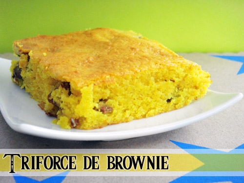 Triforce de brownie - Photo par greengeekfood