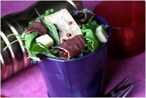 Salade Folle au foie gras - Photo par Ma boîte à diners