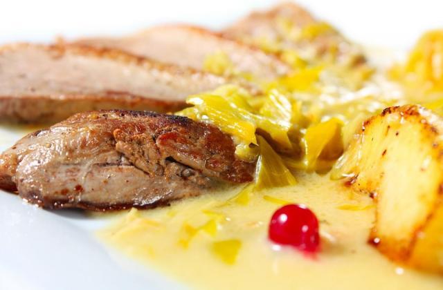 Magret de canard aux pommes et au cidre - Photo par sophroch