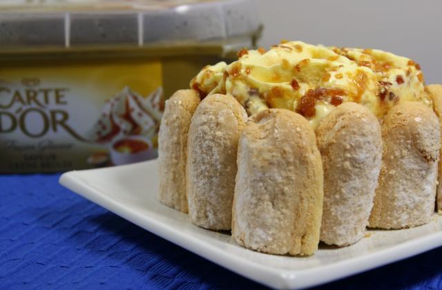 Tiramisu glacé à la crème glacée Carte d'Or® façon glacier saveur crème brûlée - Photo par Carte D'Or