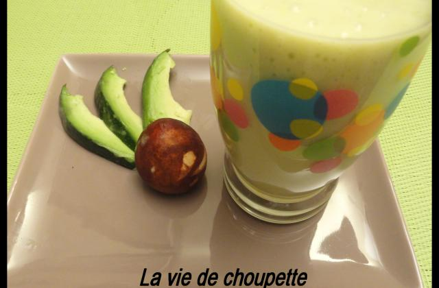 Smoothie mangue avocat et lait d'amande - Photo par sylvieydY