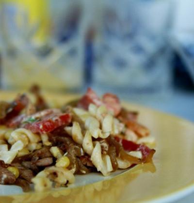 Salade de pâtes aux notes caramélisées - Photo par charliG