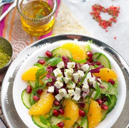 Salade orientale au Caprice des Anges - Photo par Quiveutdufromage.com