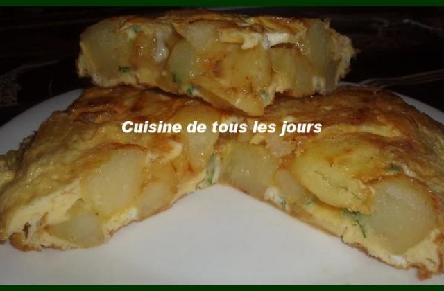 Tortilla espagnole facile - Photo par soniabb