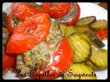 Tomates farcies aux courgettes vapeur - Photo par sagweste