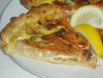 Tarte au saumon et endives - Photo par newelm