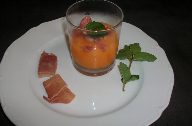 Granité de melon safrané et jambon serrano - Photo par lucile4c