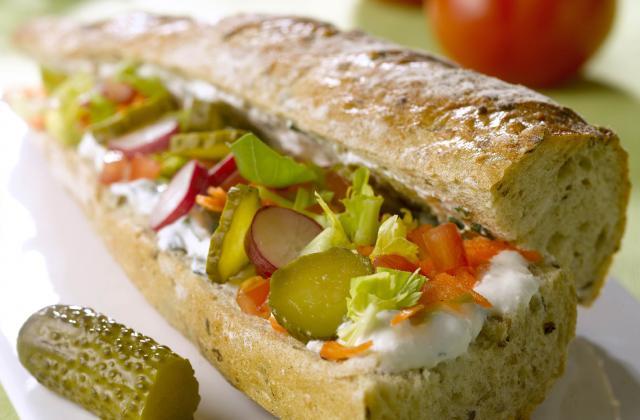 Sandwich Croq'Primeur - Photo par Amora