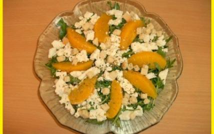 Salade de roquette aux oranges et féta - Photo par biscottine