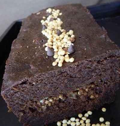 Cake au chocolat noir et au quinoa - Photo par ciboulS