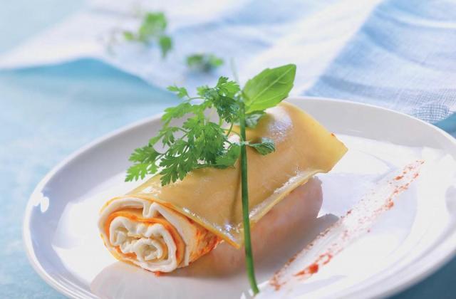 Cannelloni poivron doux & herbes fraîches - Photo par Chavroux
