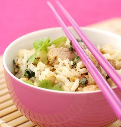 Soupe de riz au poulet (Thaï) - Photo par Vivien Paille