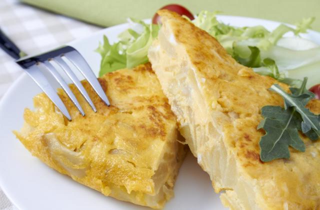 Omelette aux pommes de terre et Bresse Bleu - Photo par 750g