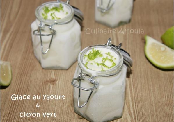 Glace au yaourt et citron vert - Photo par Culinaire Amoula