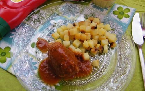 Boulettes de poulet, sauce Ketchup - Photo par Amora