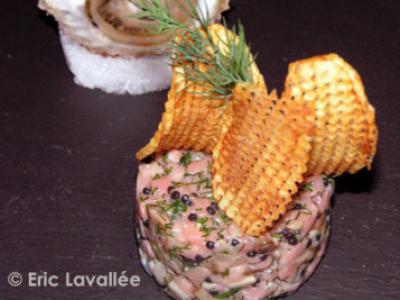 Tartare filet de veau aux huîtres de l'Ile de Sein d'Eric Lavallée - Photo par ericlavallee