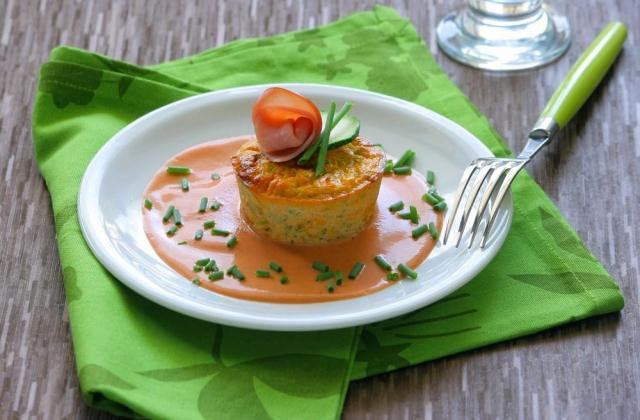 Petits flans aux courgettes, bacon et Ketchup - Photo par Amora